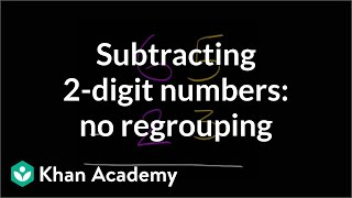 Subtracting 2 Digit Numbers Without Regrouping