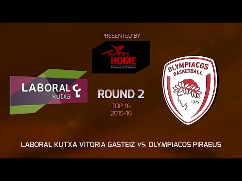 Highlights: Top 16, Round 2, Laboral Kutxa Vitoria Gasteix 76-82 Olympiacos Piraeus