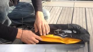 Самонадувной спасательный жилет для рыбалки