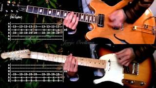 Last Nite - The Strokes ( Guitar Tab Tutorial & Cover ) [Tabs on video version]