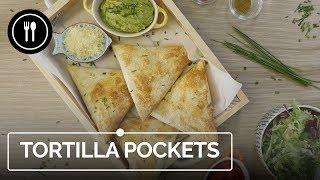 TORTILLA POCKETS, una manera divertida de cocinar con tortillas de trigo | Instafood