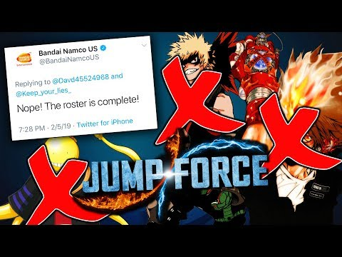 JUMP FORCE Final Roster DONE AT 42 CHARACTERS!?
