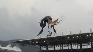 (Curiosidades) Um Dragão voa no Estádio na abertura do campeonato de Beisebol na Coreia do Sul