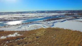 Winter Drone Flight in Calgary