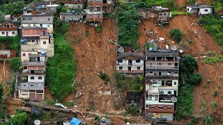 video: Brazil storms: At least 30 killed after devastating landslides