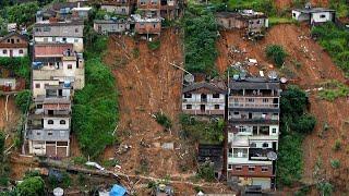 video: Brazil storms: At least 30 killed after devastating landslides