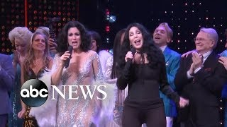 Cher gets on stage for surprise performance after 'The Cher Show' opening