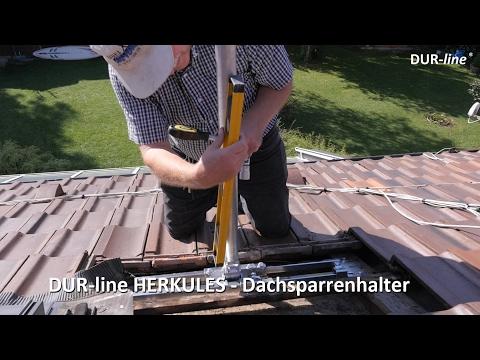 Dachsparrenhalter - DUR line Herkules - Der Stärkste! Für große Sat-Schüsseln