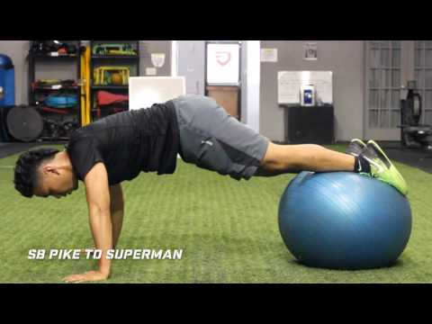Stability Ball Pike Progressions