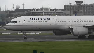 United Airlines N26123 Boeing 757-224 Takeoff at Dublin