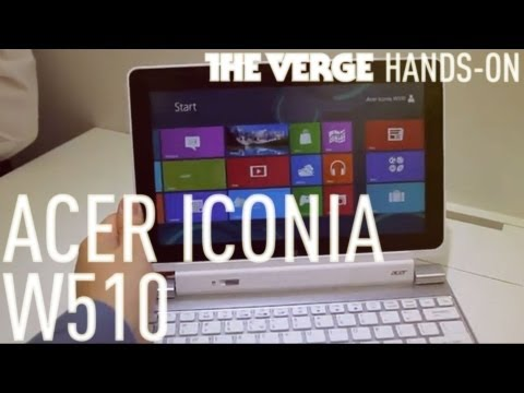 Acer Iconia W510 sous Windows 8