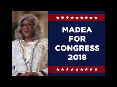 Madea(Tyler Perry) FOR CONGRESS 2018 - the Maxine Waters/Madea ticket.