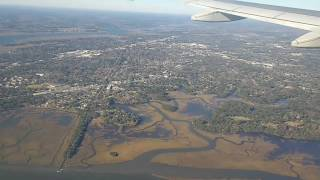 Charleston SC landing in a Airbus A320