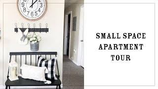 Apartment Tour | Small Space Living | Affordable Modern Farmhouse Style