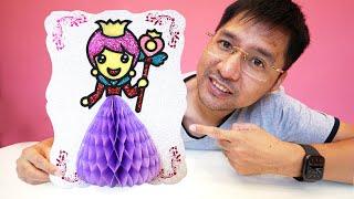 Hướng dẫn tô màu kim tuyến cho công chúa váy tím   Panduan warna glitter untuk sang putri gaun ungu