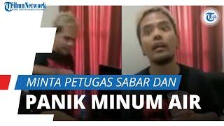 Reaksi Coki saat Digerebek Disorot Netizen, Minta Petugas untuk Sabar hingga Panik Minum Air Putih
