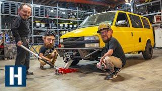 Chevy Astro Surfari Overland Project Gets a Custom Plasma Cut Front Bumper