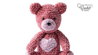 Crochet Valentine Bear Pattern