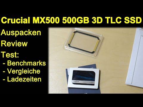 Crucial MX500 500GB 3D-NAND TLC - Auspacken Review Test Benchmarks Vergleiche Ladezeiten