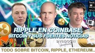 5 FUERTES Noticias de RIPPLE y BITCOIN: Ripple Coinbase XRP, Israel, Uber Elevate, TenX, Diverdocus