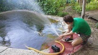 Как выбать насос для полива из бочки видео