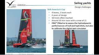 DESIGNING WORLD-CLASS SAILING YACHTS WITH AMERICA'S CUP CFD EXPERIENCE