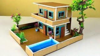 Making A Beautiful Cardboard Mansion House #66 | Easy Crafts From Cardboard