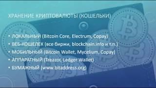 Хранение криптовалюты (кошельки)