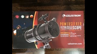 Celestron Powerseeker 127 EQ Telescope unboxing and assembly (NO REVIEW)