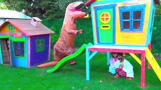 Катя с Максом против динозавра который хочет детский домик