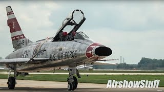 Jet Warbirds Taxi and Flybys - Terre Haute Airshow 2018