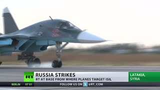 First look at Russian airbase in Latakia from where jets take off to bomb ISIS (EXCLUSIVE)