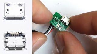 5 Pin Micro USB wechseln , löten , reparieren / repair , soldering , changing