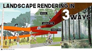 3 WAYS To Render Landscape Design In Photoshop