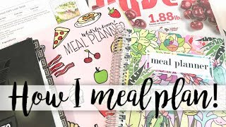How I Meal Plan! My Process For Meal Planning In The Carrie Elle Meal Planner