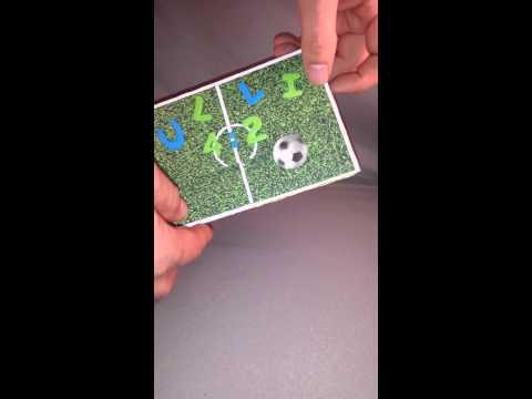 Geburtstagskarte für Fussball Fan