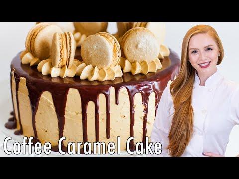 Video Coffee Caramel Cake with Chocolate Ganache