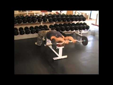 Lying Barbell Reverse Extension