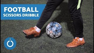 Football Scissors Dribble (Double Stepover)
