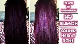 Black To Burgundy Hair Colour - No Bleach