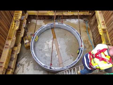 CPM Precast Weir Wall Installation