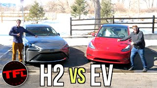 Tesla Model Y vs Toyota Mirai: WARNING, Tesla Fanboys Will HATE This Video! by The Fast Lane Car