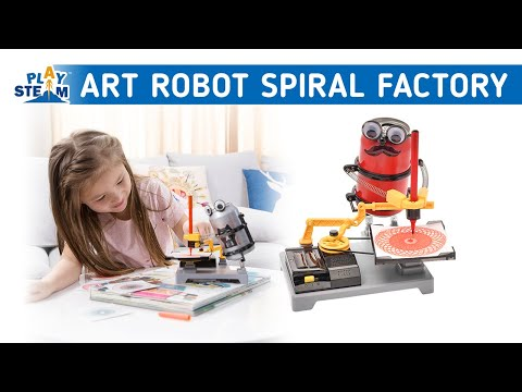 PlaySTEAM Arts Tin Can Robot Spiral Design Factory