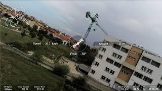 Drone Parrot Anafi FPV Racing mode - Garmin Virb