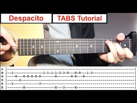 Despacito | Fingerstyle TABS Guitar Lesson (Tutorial) How To Play Fingerstyle Mp3
