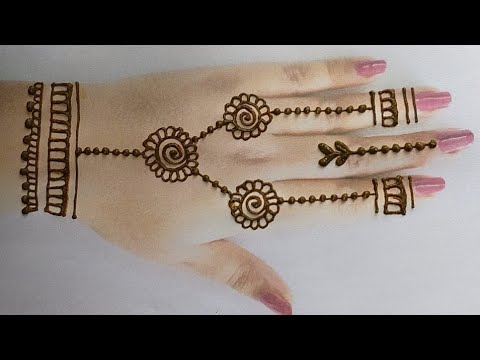 Very Easy and beautiful henna Mehndi designs for back hand|#Simple/Easy Mehndi designs tutorial 2019