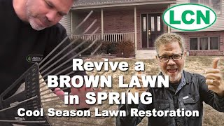 How to Revive a BROWN LAWN in SPRING :: Cool Season Lawn Restoration