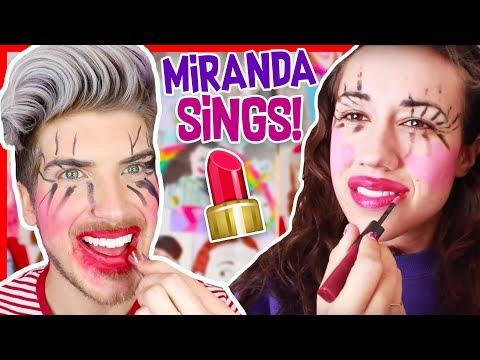 I TRIED FOLLOWING A MIRANDA SINGS MAKEUP TUTORIAL!