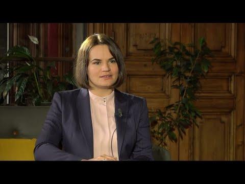 """Svetlana Tikhanovskaïa : """"Les Biélorusses ont le droit de décider de l'avenir de leur pays"""""""