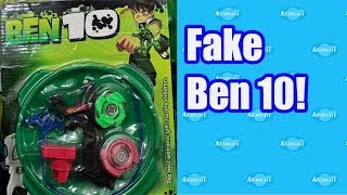 Fake Ben 10 Beyblades Bootleg Toys!